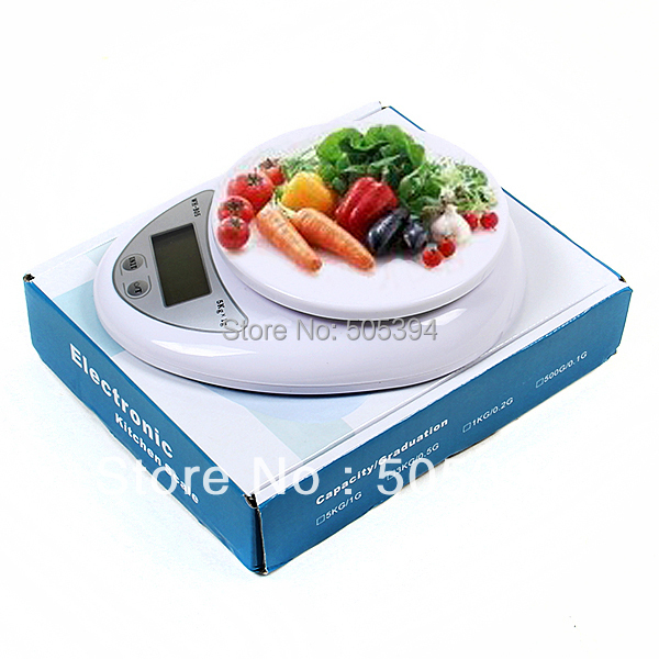 Free shipping New 5kg 5000g/1g Digital Kitchen Food Diet Postal Scale balance(China (Mainland))