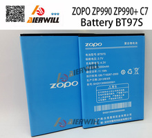 High Quality ZP990 BT97S 3000mAh Battery For ZOPO ZP990 ZP990+ C7 Mobile Phone Battey Batterie   Free Shipping