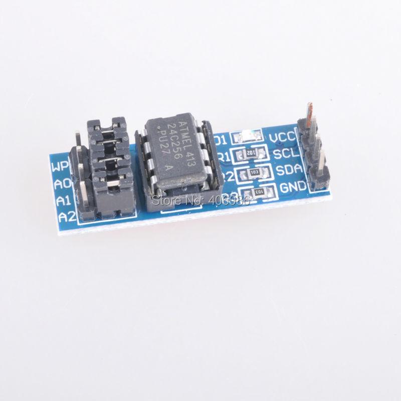 2pcs/lot AT24C256 Memory Module I2C Interface EEPROM FZ0711(China (Mainland))