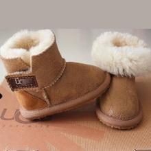 100% del cuoio genuino bambino scarpe per bambini stivali 2015 nuovo inverno australiano marca per bambini snow boots ragazzi ragazze bambini bambino(China (Mainland))