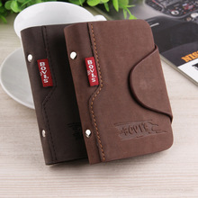 Wholesale Fashion Women's Men's Cowhide Leather Card ID Holders Vintage Hasp Design PU Credit Card Holder(China (Mainland))