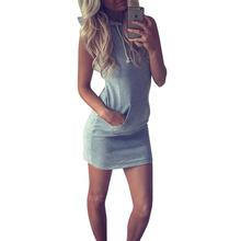 Hot 2016 Summer Women Ladies Casual Sport Shirt Hooded Dress Sundress robe Vintage Sexy Slim Bodycon Party Night Club Dresses Z2(China (Mainland))