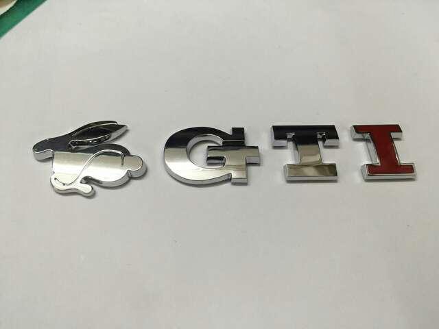MK4 Style Rabbit GTI Emblem Badge Logo Red I Version For Volkswagen For VW(China (Mainland))