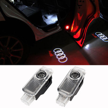 For Audi A4 A5 A6 CREE car door light ghost shadow light logo projector(China (Mainland))
