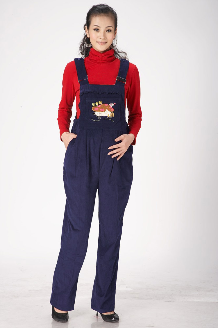 2015 Fashionable Pregnant Woman Long Pant Maternity Trousers Pants for the Pregnant Females Corduroy Maternity Bib Pant Overall(China (Mainland))