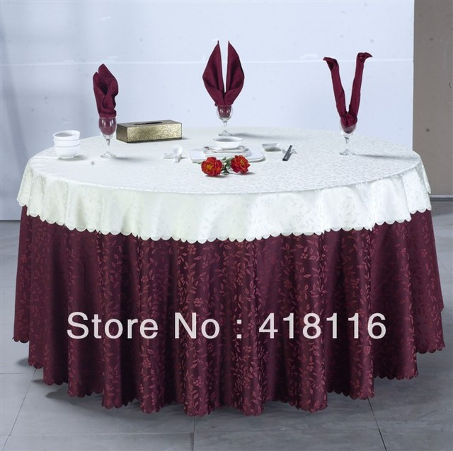 """free shipping Polyester jacquard tablecloth 120"""" round table cloth factory for events"""