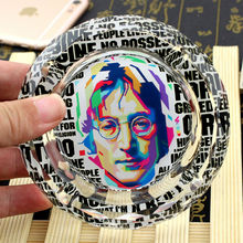 John Lennon The Beatles Creative Smoking Gift For Fans Boyfriend Celebrity Souvenirs Collectibles Crystal Ashtray(China (Mainland))
