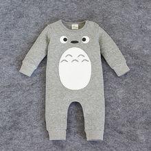 2015 nuovi vestiti del bambino totoro pagliaccetti per neonati del vestito del corpo vestiti delle ragazze dei ragazzi della tuta del bambino del pagliaccetto del cotone infantile abbigliamento(China (Mainland))