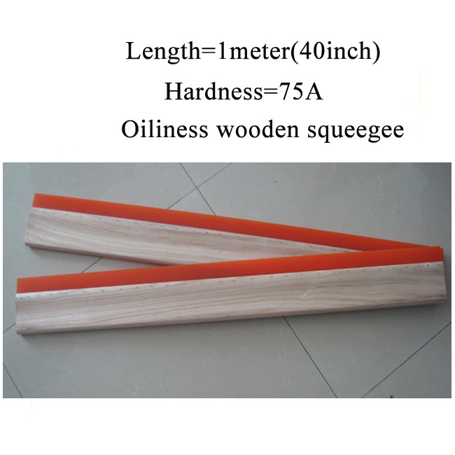 40inch oiliness squeegee wooden handle screen printing Squeegees length is 1 meter 75 Durometer(China (Mainland))