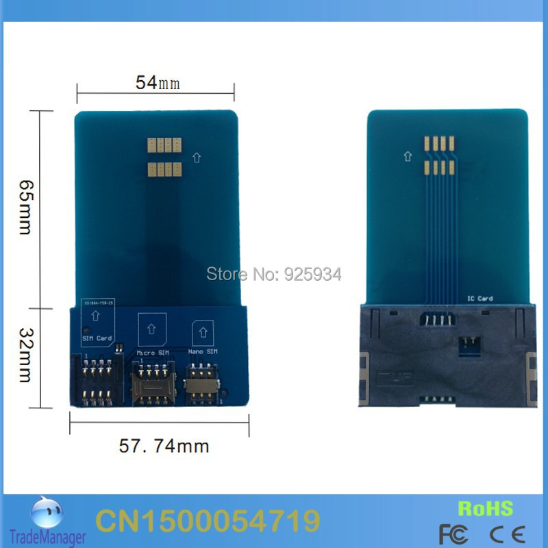 Multifunction Smart SIM / Micro Nano Cards Adapter Converter Support ISO 7816 CLASS A,AB C - Lily Lai's Store store