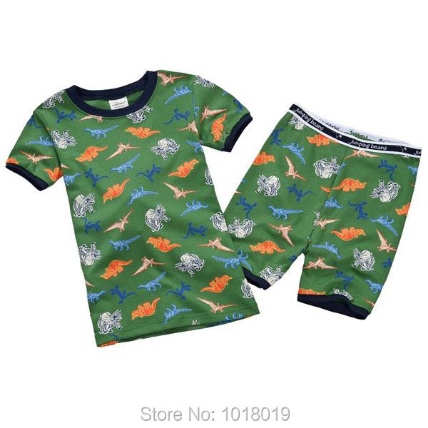 2T~7T, Brand Quality 100% Cotton Toddler Boys 2pcs Children Suits Clothing Clothes Pajamas Sets Sleepwear Nightwear Homewear Pjs(China (Mainland))