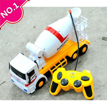 Steering wheel car,Large cement truck mixer,Electric Construction vehicles toy, 4-channel wireless remote control, free shipping(China (Mainland))