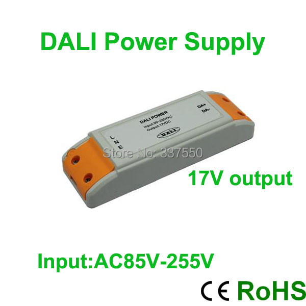 2015 Promotion Ce Rohs White Led Driver Brand New Ac85v-255v Input Dali Power Supply/lighting Transformer 17v Output 5.4w 0.25a(China (Mainland))
