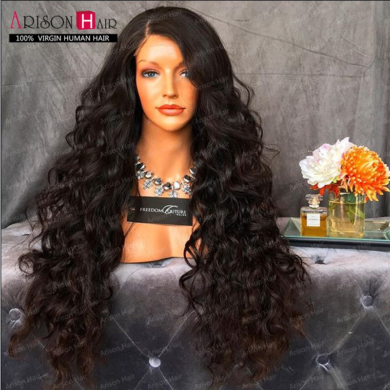 Deep Curl Full Lace wig Remy Indian hair glueless full lace human hair wigs with baby hair virgin lace front wig for black women<br><br>Aliexpress