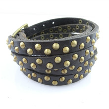 2015 Luxury colorful fashion leather thin bracelet jewelry men leather charm / sport bead bracelet bangle free shipping NSL-130