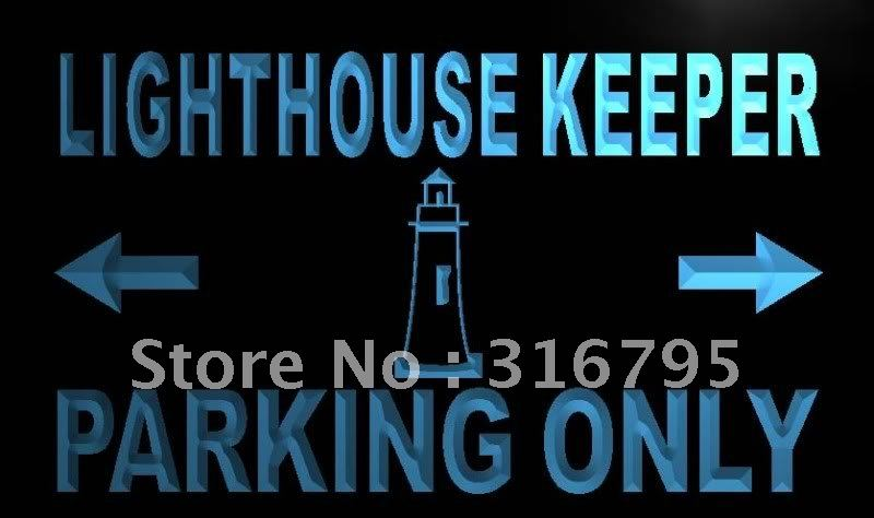 m373-b Lighthouse Keeper Parking Only LED Neon Light Sign Wholeselling Dropshipper(China (Mainland))