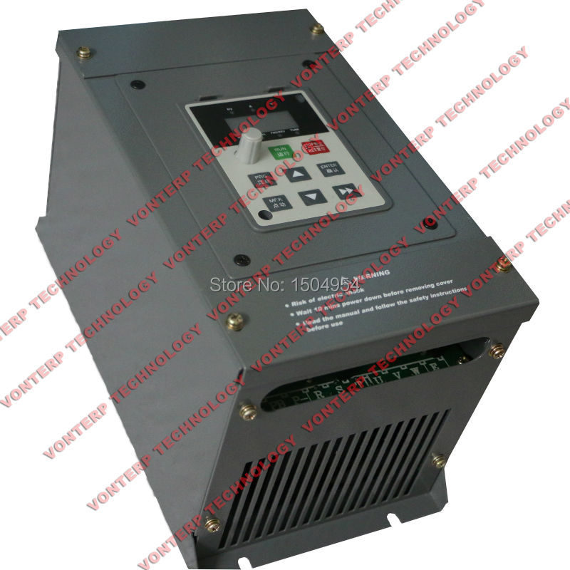 ac motor frequency inverter/ adjustable frequency drive 380v 3 phase 5.5kw(China (Mainland))