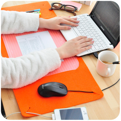 Korean Creative Felt Large Mouse Pad Computer Desktop Wallpaper Large Desk Pad Multifunctional Keyboard Pad Wrist Support Mat(China (Mainland))