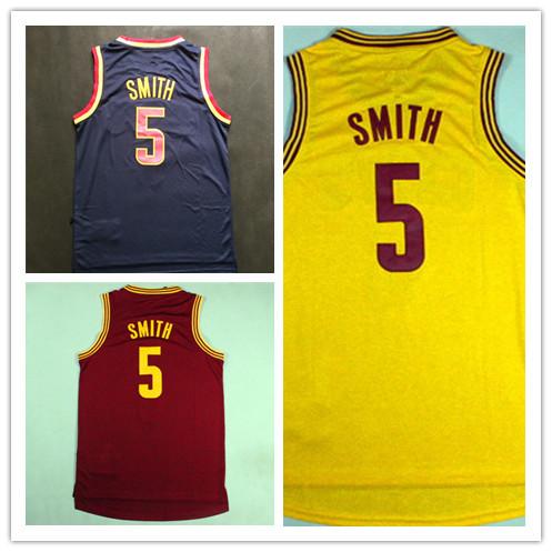 #5 JR Smith Jersey, 2014-15 New JR Smith Red Yellow Dark Blue Basketball Jersey,Size:S-XXL ,Free Shipping(China (Mainland))
