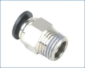 tube 12mm-1/2 BSPT thread male straight pneumatic air fitting, air tube connector(China (Mainland))