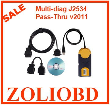 2016 Professional multidiag v2011 Top Sale Best quality multi diag v2011 access j2534 pass thru obd2 device with multi-language(China (Mainland))