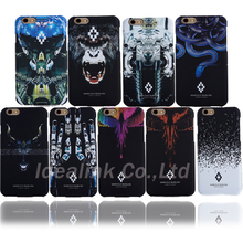 2016 New marcelo burlon Cover Tiger Snake Tiger Monkey PC Funda Cover for iPhone 6 6S Plus Coque Phone Case With Retail Package