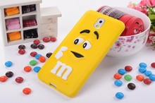 For Samsung Galaxy Note 4 Case Fashion Cute Cover Lovely M&M Chocolate Cartoon Gift Soft Silicon Present Hot Sale Wholesale