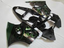 Injection mold Fairing kit for KAWASAKI Ninja ZZR600 2005 2008 ZZR 600 05 06 07 08 Green flames black Fairings set +7gifts KG02(China (Mainland))