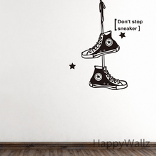Buy Baby Nursery Wall Sticker Sneakers Wall Decal Kids Room DIY Removable Shoes Wall Sticker Removable Children Decors N7 for $13.92 in AliExpress store