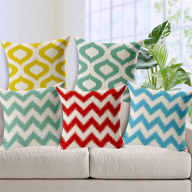 Inexpensive Throw Pillows For Couch : Aliexpress.com : Buy Europe Cushion Covers Geometric Throw Pillow Covers Linen Cotton Plain ...