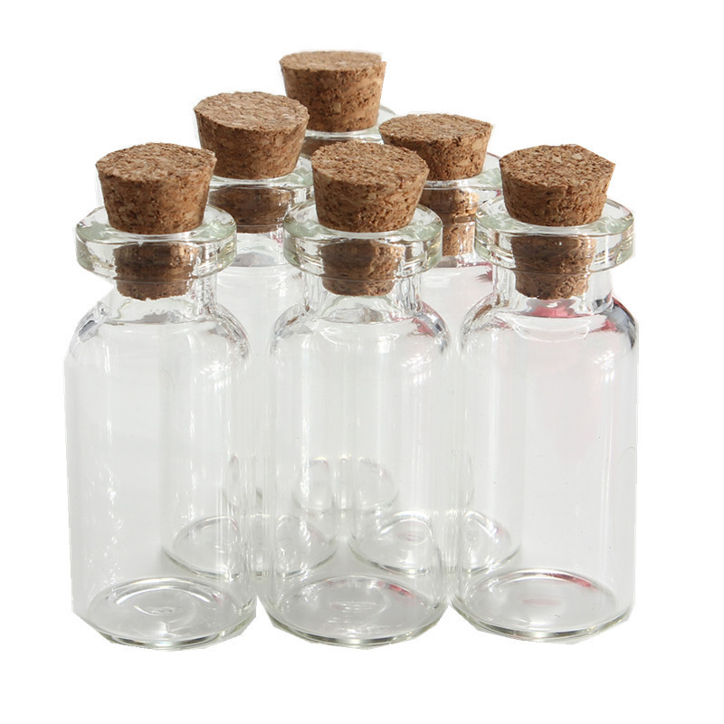 Newest 5pcs/lot 2ml transparent Empty Wishing Glass bottle Drifting Bottle Message Vial With Cork Stopper Jars Containers Craft(China (Mainland))
