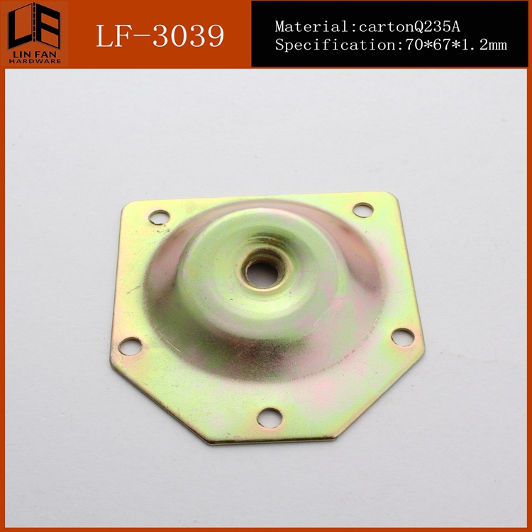 furniture hardware heavy duty plate for sofa,angle top plate,table leg angle top plate slope 12 degree(China (Mainland))