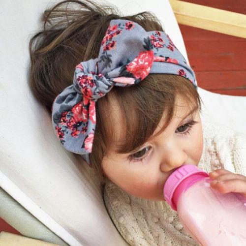 1 PCS Baby Kids Girl Child Flower Bow Hairband Turban Knot Rabbit Headband Headwear Hair Band Accessories(China (Mainland))