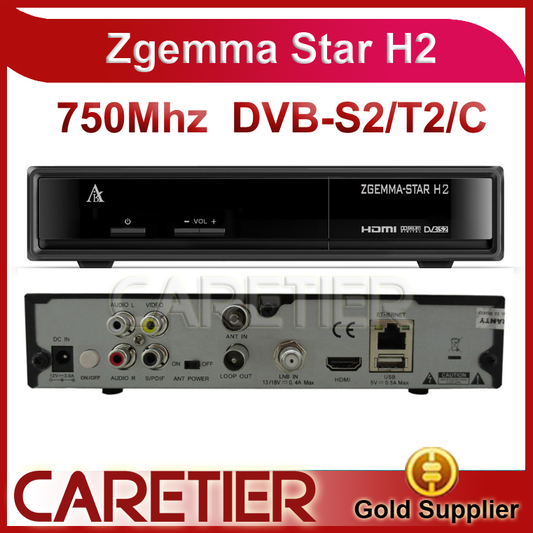 2015 New! satellite reciever Zgemma star H2 751MHZ twin tuner DVB-S2+T2 Enigma2 Linux Zgemma-star H2 replace Cloud ibox III se(China (Mainland))