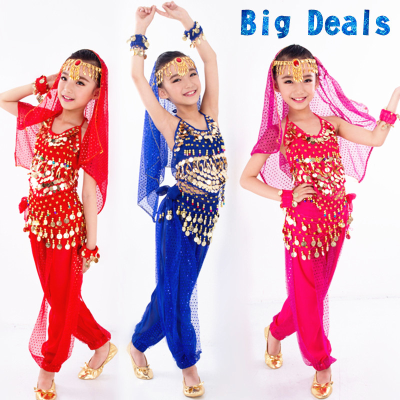 New Arrival One piece/lot Belly Dancing Kis Belly Dance Costumes for Child indian dresses