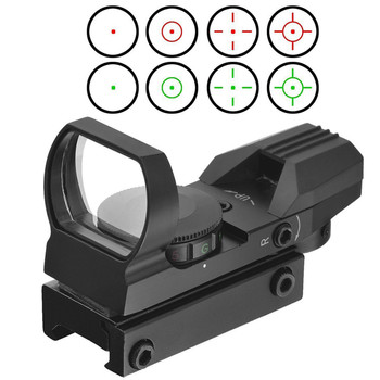 Hunting Tactical 20mm/11mm Holographic 1x22x33 Reflex Red Green Dot Sight Scope Project Picatinny Rail Mount 20mm Chasse Caza