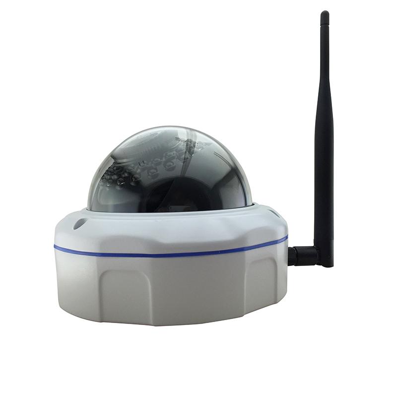 Vandal-proof wireless wifi HD 960P 1.3MP metallic glass lamp 30IR Security P2P Onvif(China (Mainland))