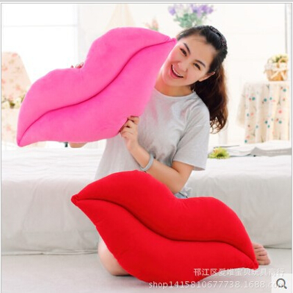 1pcs 52*26cm creative novelty item funny women big mouth shape cushion pink red lip plush toy throw pillow for couch pregnancy(China (Mainland))