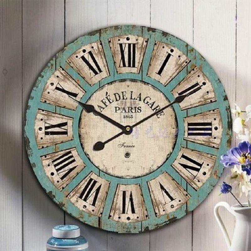 Dise o retro de la cocina elhouz - Reloj cocina diseno ...