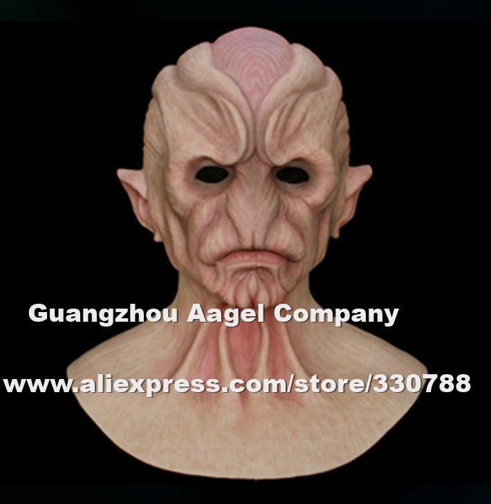 Alien-1 silicone halloween mask, full head alien horror mask costume, film props - Guangzhou Angel Company store