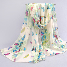 Chiffon silk scarf 2016 Butterfly Ladies scarf female summer and autumn all-match scarf long design cape silk scarves shawl(China (Mainland))
