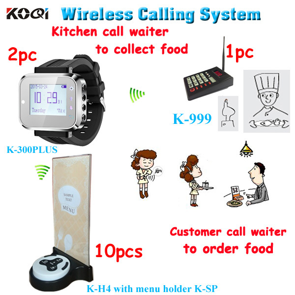 System kitchen to waiter paging ; Customers call waiter to order; Cooker call waiter to pick up order; Table button menu holder(China (Mainland))