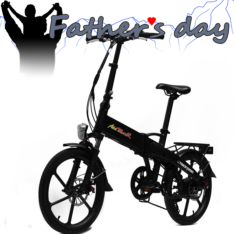 "IN STOCK!!! Addmotor CYBERTRON Folding E-bike Mini Bike Black 350W 36V 20"" SAMSUNG Lithium Battery Electric Bicycle EB326(China (Mainland))"