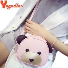 Yogodlns Cute Bear Face Women Bag Baby Girl Mini messenger Shoulder Bag For Women Cross Body Bags Lady PU Leather Handbags(China (Mainland))