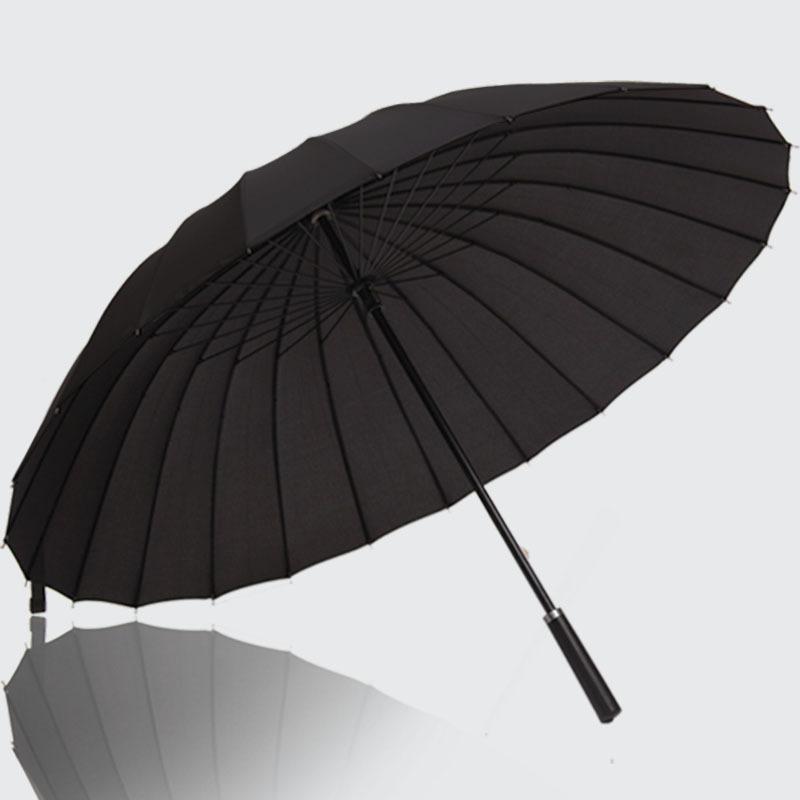 Top Quality 24 Rib Firm Sunshade Windproof Golf Advertising Gift Craft Beach Anti-UV Sun/Rain Stick Umbrella Big Parasol YS135(China (Mainland))