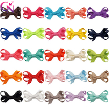 "Buy 25 Pcs/lot 2"" Plain Ribbon Bow Ribbon Covered Clip Kids Girls Handmade Boutique Mini Hairgrips Hairpin Hair Accessories for $4.74 in AliExpress store"