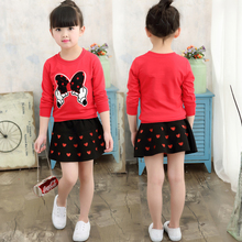 Buy Spring Autumn 2017 NEW Style Baby Girls Minnie Clothes Sets Korean Kids Long Sleeve T Shirt+Skirt 2 Pcs Children Casual Suits for $10.31 in AliExpress store