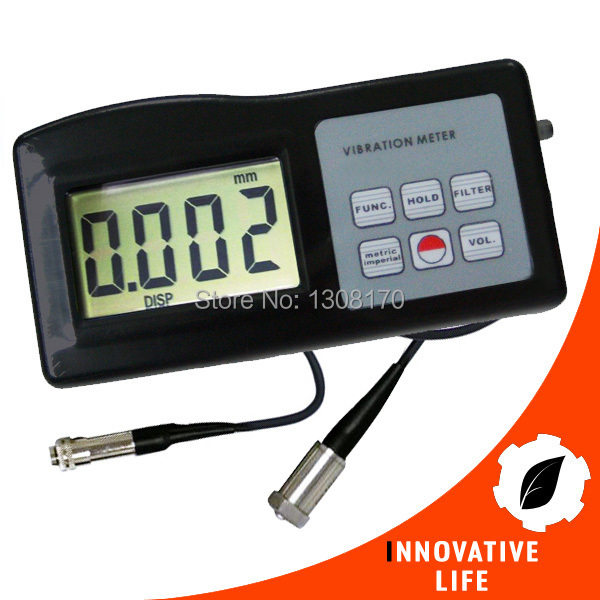 Digital Vibration Meter 10Hz-10kHz Measures Acceleration Velocity Displacement RPM Frequency Vibrometer Gauge Tester Analyzer(China (Mainland))