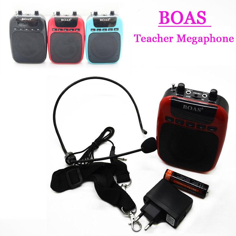 BOAS High power digital Voice amplifiers audio booster for teacher microphone megaphone external Speaker support TF /U disk
