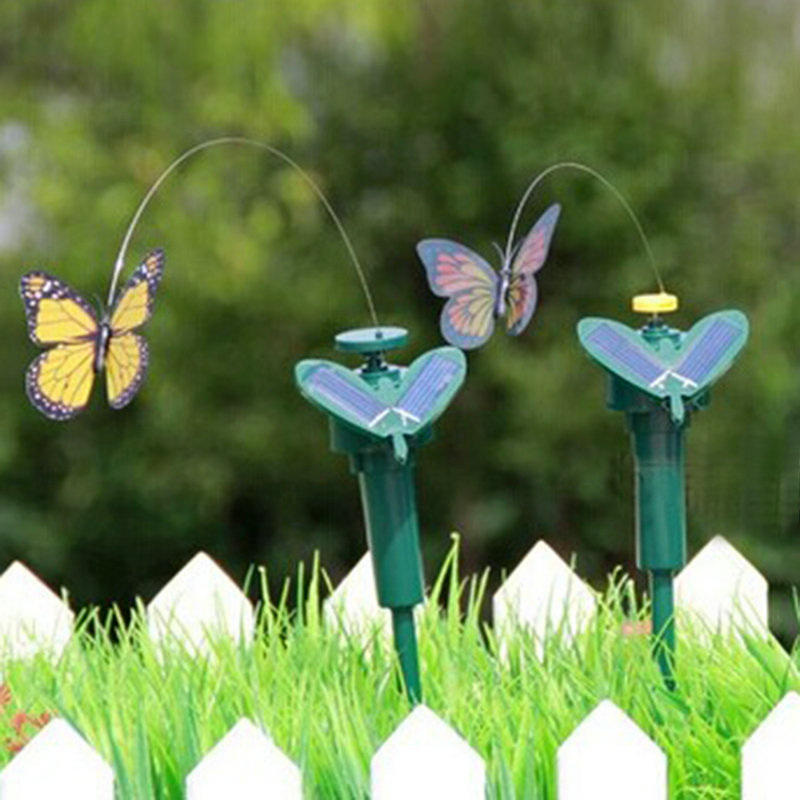 New Promotion Interesting Items Fascinations Solar Butterfly Colors May Vary Free Shipping(China (Mainland))